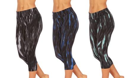 Marika Women's Slimming Printed Capri Leggings