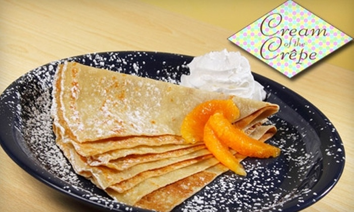 Cream of the Crêpe - Park Ridge: $5 for $10 Worth of Crêpes and Drinks at Cream of the Crêpe in Park Ridge