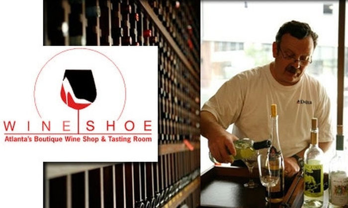 Wine Shoe - Castleberry Hill: $35 for Enrollment for Two People in a Two-Hour Wine Class at the Wine Shoe (Up to $70 Value)