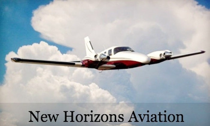 New Horizons Aviation - Allentown / Reading: $75 for a Discovery Flight Lesson at New Horizons Aviation ($195.30 Value)