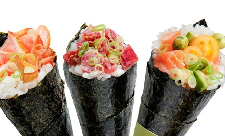 Signature Temakis, Organic Miso Soup and Salads at Boom Sushi( Up to 50% Off). Two Options Available.