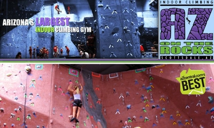 AZ on the Rocks - North Scottsdale: $21 for a One-Day Rock-Climbing Pass at AZ on the Rocks