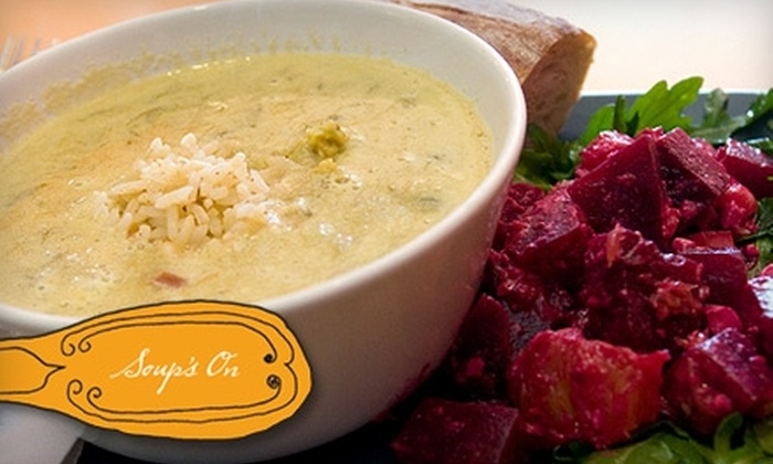 Soup's On - Hampden: $7 for $15 Worth of Soups, Salads, and More at Soup's On