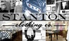Half Off at Stanton Clothing Co.