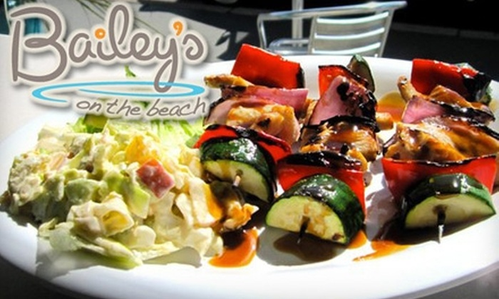 Bailey's on the Beach - Nob Hill: $10 for $20 Worth of American Fare and Drinks at Bailey's on the Beach