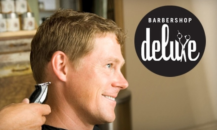 10 For A Mens Haircut Barbershop Deluxe Groupon