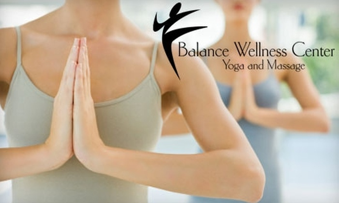 Balance Wellness Center - Old Earnhardt: $39 for One Month of Unlimited Yoga or a Massage at Balance Wellness Center in Concord (Up to $125 Value)