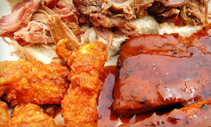 Backyard Bistro - Southwest Raleigh: Carry-Out Barbecue Party Platter for 24 or $10 for $20 Worth of Dine-In Barbecue Fare at Backyard Bistro