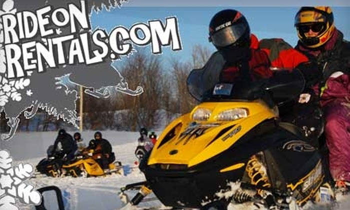 RideOnRentals - Blue Mountains: $17 for a 1.5-Hour Guided Snowshoeing Tour, Plus a $20 Gift Card Toward Snowmobiling from RideOnRentals ($35 Value)