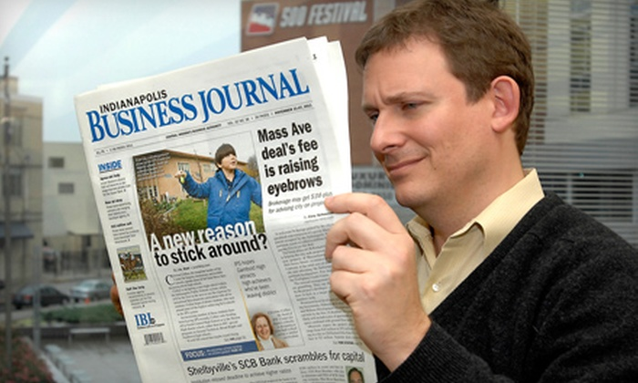 """Indianapolis Business Journal"" - Downtown Indianapolis: Online or Print Subscriptions to ""Indianapolis Business Journal"" (Up to 55% Off). Three Options Available."