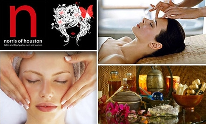 Norris of Houston Salon - Great Uptown: $45 for a One-Hour Massage or Facial at Norris of Houston Salon and Day Spa