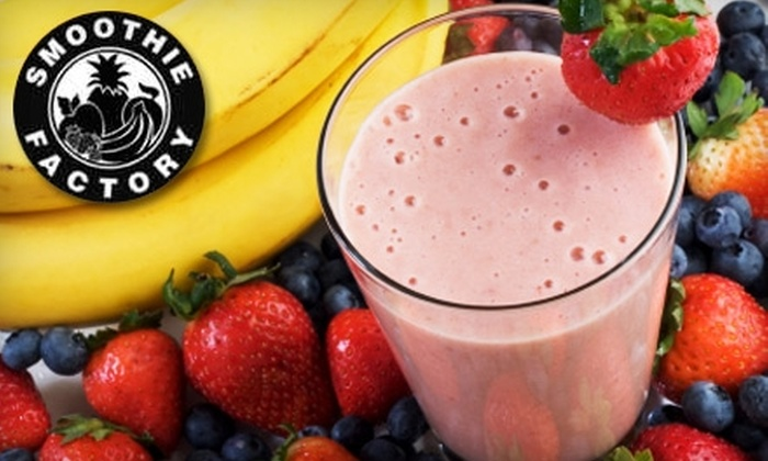 Smoothie Factory - Multiple Locations: $5 for $10 Worth of Smoothies at Smoothie Factory. Five Locations Available.