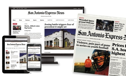 "26 or 52 Weeks of Wednesday and Sunday Home Delivery from ""San Antonio Express-News"" (67% Off)"