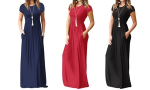 Robe maxi casual taille Empire