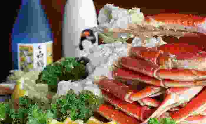 Hokkaido Seafood Buffet (Newport Beach) - Newport Beach: $29 for2 Buffet Dinnerswith 2GlassesofWine or 22-Ounce SapporoBeersat Hokkaido Seafood Buffet (Up to $50 Value)