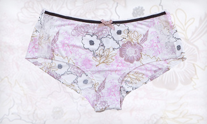 Ana Grant Floral Lavender Boy Shorts: $11 for an Ana Grant Floral Lavender Boy Short ($17.99 List Price). Free Shipping. Multiple Sizes Available.