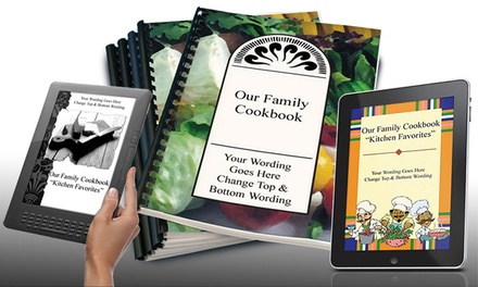 Photo CookbookMaking Software with Option for 5 or 10 Copies of the Cookbook by Family Cookbook Project (Up to 87% Off)