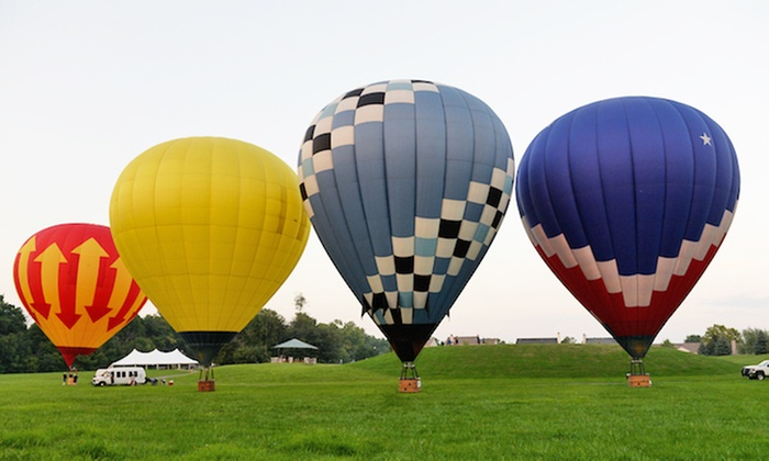 Midwest Balloon Rides - Downtown Fishers: $199 for a One-Hour Hot Air Balloon Ride at Sunrise or Sunset from Midwest Balloon Rides ($299 Value)