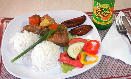 Caribbean Dinner Cuisine at Island Kitchen (Half Off). Two Options Available.