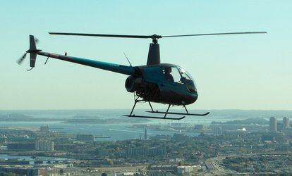 image for $203 for an Intro to Helicopter <strong>Flying</strong> Lesson with Video at Boston Helicopters ($289 Value)