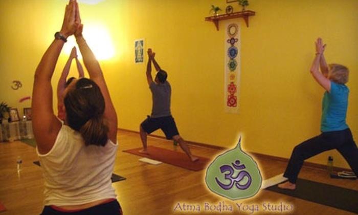 Atma Bodha Yoga Studio - Virginia Beach: $25 for a 10-Class Pass at Atma Bodha Yoga Studio ($105 Value)