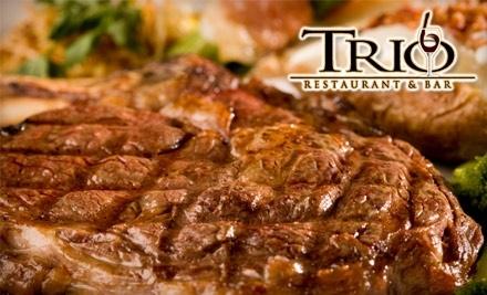 $50 Groupon to Trio Restaurant & Bar - Trio Restaurant & Bar in Mount Airy
