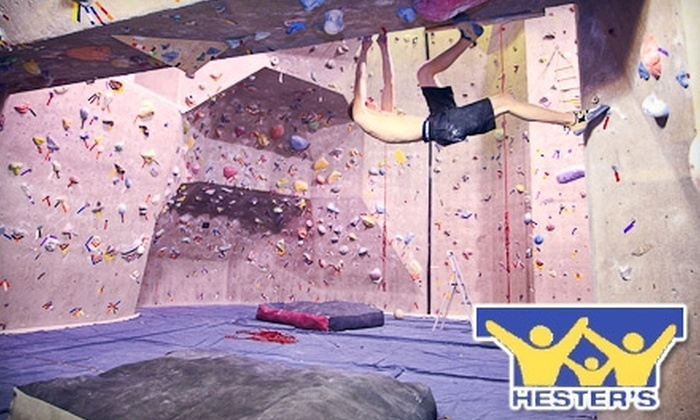 Hester's Family Fitness and Recreation Center - South Side: Up to 71% Off Rock Climbing at Hester's Family Fitness and Recreation Center. Choose Between Two Options.