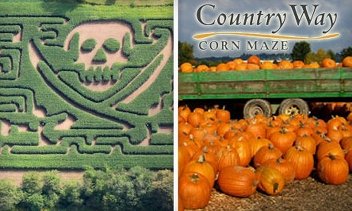 Country Way Corn Maze - Penfield: $10 for Two Tickets to the Pirate Maze and Pumpkin Patch at Country Way Corn Maze
