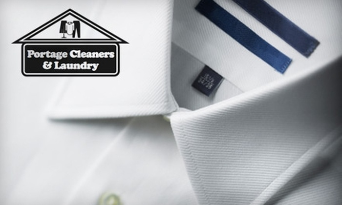 Portage Cleaners & Laundry - Multiple Locations: $15 for $30 Worth of Dry Cleaning or Shirt Laundry Services at Portage Cleaners & Laundry