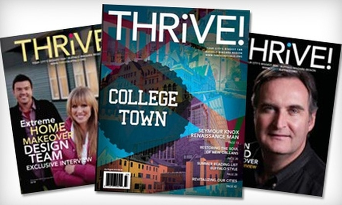 """Thrive! Magazine"": $7 for a One-Year Subscription to ""Thrive! Magazine"""