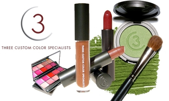 Three Custom Color Specialists: $22 for $50 Worth of Makeup Products from Three Custom Color Specialists