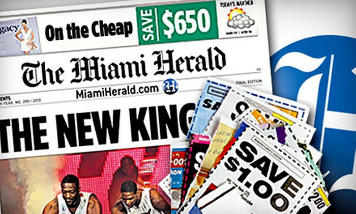 """""""Miami Herald"""" - The Miami Herald: Six-Month Sunday Subscription with or Without Digital Subscription to the """"Miami Herald"""" (Half Off)"""