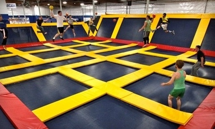 Sky High Sports - Pineville: Two Hours of Kids' Jump Time Monday–Thursday or Friday– Sunday at Sky High Sports in Pineville (Up to Half Off)