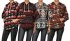 Women's Fleece-Lined Printed Poncho with Hood