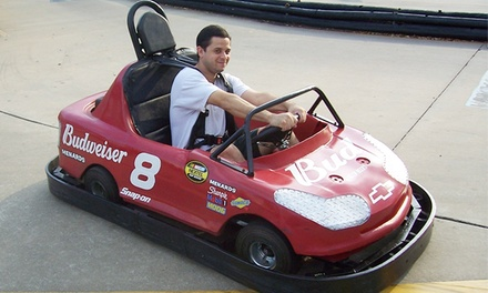Go-Kart or Indy-Kart Package with Arcade Tokens and Gator Feeding for Two at Kissimmee Go-Karts (Up to 68% Off)