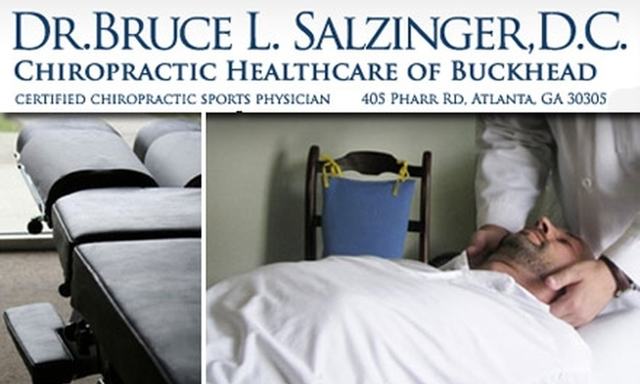 Dr. Bruce L. Salzinger, D.C. - Garden Hills: $49 for Consultation, Exam, X-Rays, and Adjustment at Chiropractic Healthcare of Buckhead