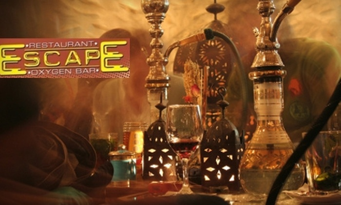 Escape Oxygen Bar - Eastside: $10 for $20 Worth of Drinks, Bar Fare, Hookah, and Oxygen at Escape Oxygen Bar