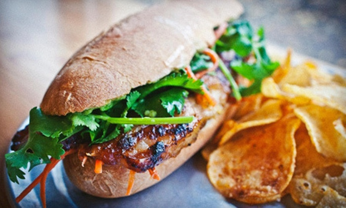 Double Dragon - Haig,Hosford-Abernathy,Hawthorne: Vietnamese Sandwich Meal with Beer or Sweet Tea for One or Two at Double Dragon (Up to 55% Off)