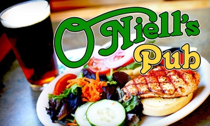 O'Niells Pub - Nob Hill: $10 for $20 Worth of Pub Fare and Drinks at O'Niell's Irish Pub