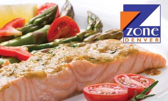Zone Denver - Denver: $20 for a Full Day of Meal Delivery from Zone Denver ($40 Value)