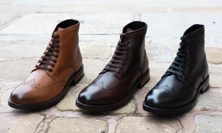 Boots en cuir homme Redfoot modèle Brogue