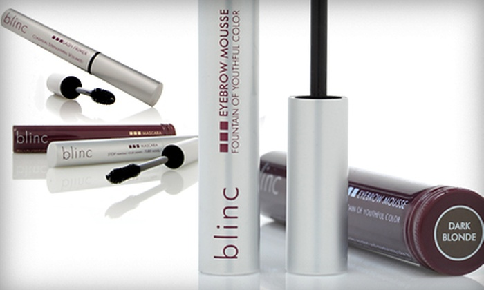 Blinc Cosmetic Eyelash and Eyebrow Collection: $35 for Blinc Mascara, Lash Primer, and Eyebrow Mousse ($69 Value). Multiple Colors Available. Shipping Valid in U.S., Excluding Florida.