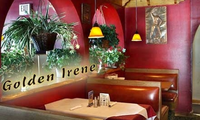 Golden Irene's Restaurant - East Windsor: $12 for $25 Worth of Mediterranean Fare and More at Golden Irene's Restaurant