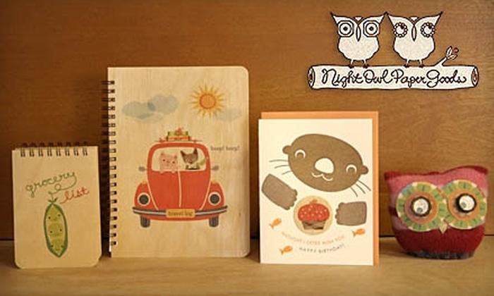 Night Owl Paper Goods: $10 for $20 Worth of Handmade Stationery and Gifts at Night Owl Paper Goods