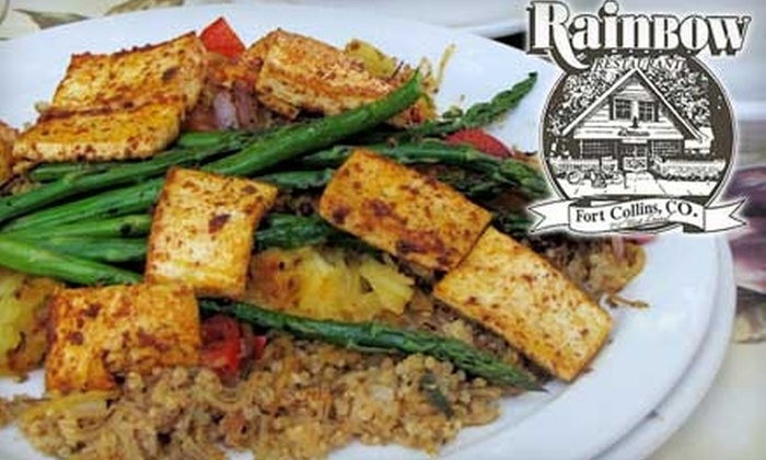 Rainbow Restaurant - University North: $10 for $20 Worth of Vegetarian and Vegan Fare at Rainbow Restaurant in Fort Collins