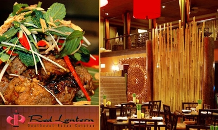 Red Lantern - Centennial: $20 for $40 Worth of Southeast Asian Cuisine at Red Lantern in Redwood City