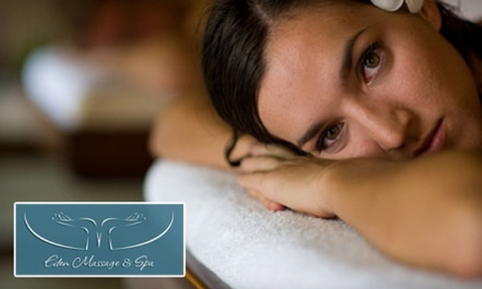 Eden Massage & Spa - Coral Ridge Country Club Estates: $35 for a Swedish Massage or Deep-Tissue/Sport Massage at Eden Massage & Spa (Up to $70 Value)