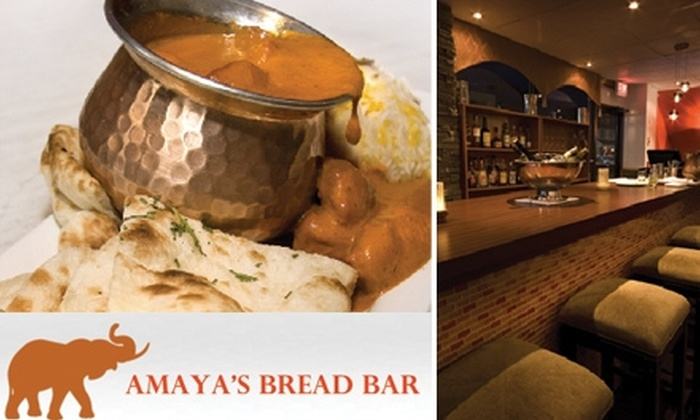 Indian Bread Bar - Bedford Park: $20 for $40 Worth of Indian Fare and Drinks at Amaya's Bread Bar