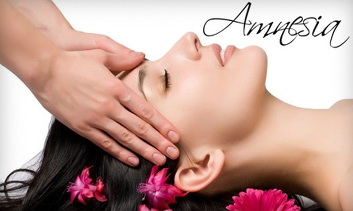 Amnesia Salon and Spa - North Las Vegas: $39 for a Massage or Botanical Garden Facial at Amnesia Salon and Spa (Up to $90 Value)