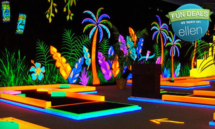 GlowGolf - Twin Brook Community Club: Mini-Golf Outing for Two Children or Two Adults at GlowGolf (Half Off)
